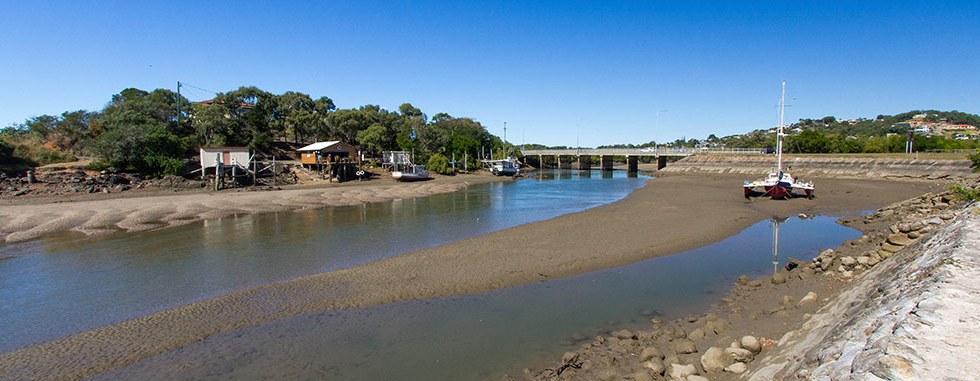 A wide shot of Ross Creek