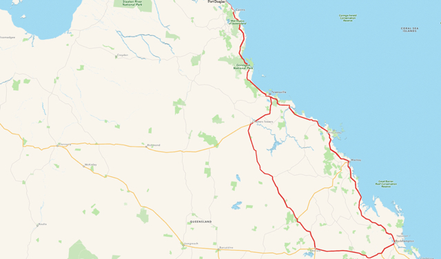 Image of Map showing route